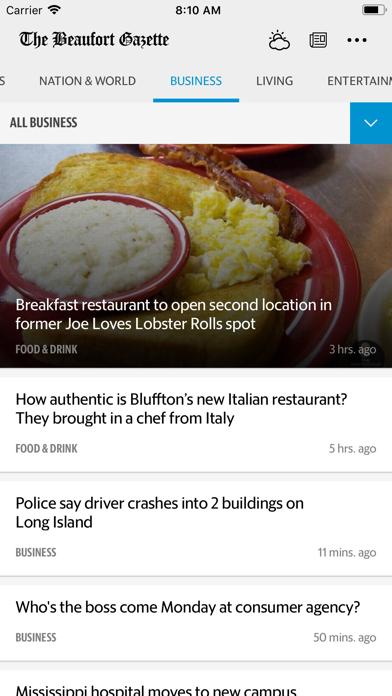 The Beaufort Gazette News Screenshot