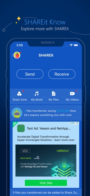 SHAREit - Connect & Transfer Screenshot