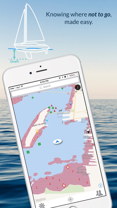 Wavve Boating-Easy Marine GPS Screenshot