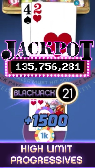 myVEGAS Blackjack – Casino Screenshot