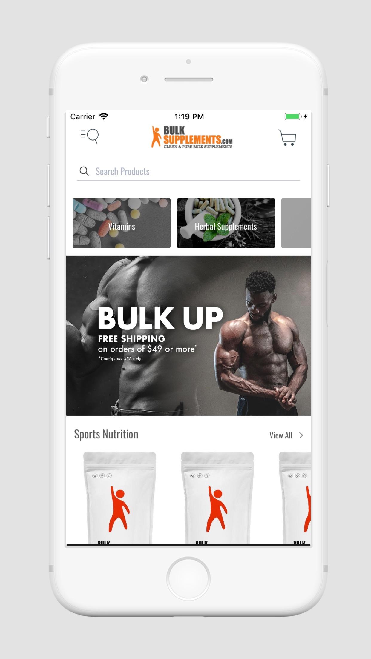 BulkSupplements Screenshot