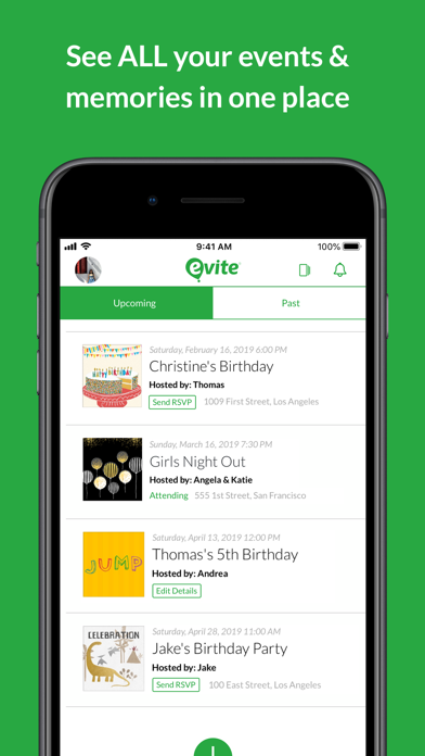 Evite: Online & Text Invites Screenshot