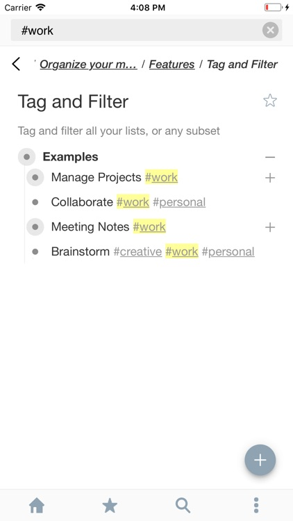 WorkFlowy: Note, List, Outline screenshot-2