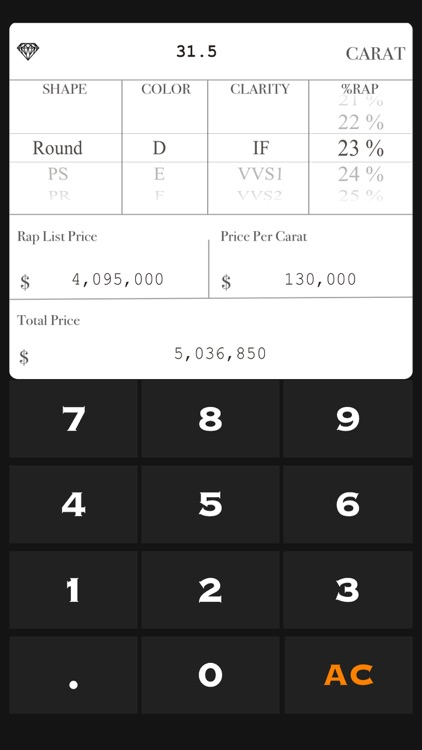 Diamond Price Calculate screenshot-3