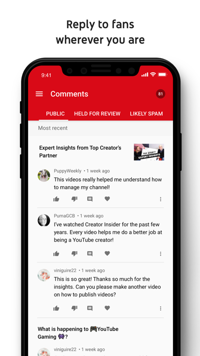 YouTube Studio screenshot four