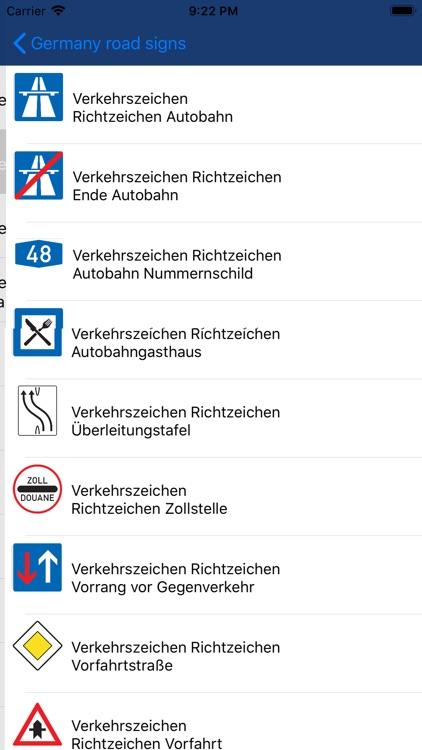 Verkehrszeichen Deutschen screenshot-3