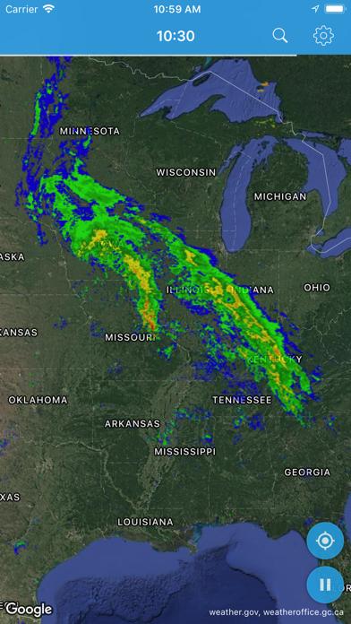 Rainy Days Rain Radar screenshot one