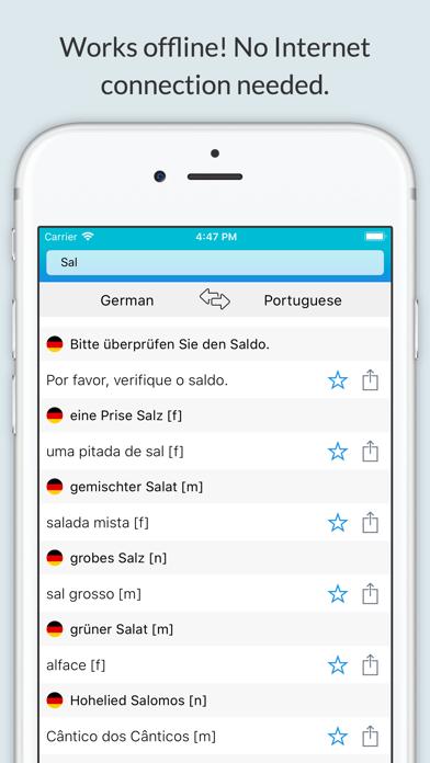 German-Portuguese Dictionary + screenshot 1