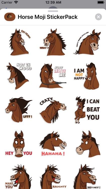 Horse Moji StickerPack screenshot-3