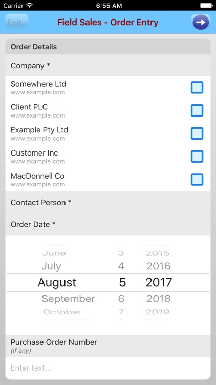 Tap-to Mobile Forms