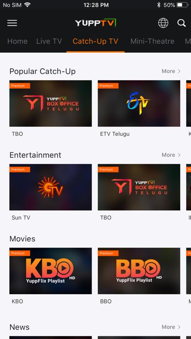 Screenshot #3 pour YuppTV - Live TV & Movies