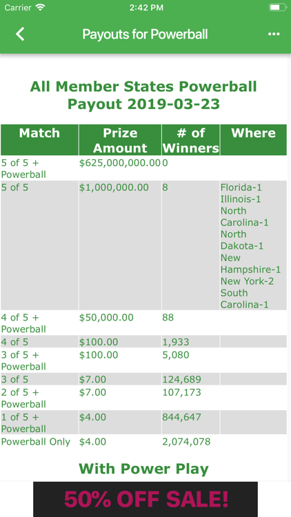 CT Lottery Results – (iOS Applications) — AppAgg