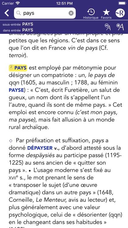 Dictionnaire Robert Historique screenshot-7