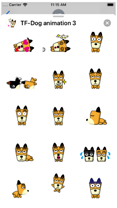 TF-Dog Animation 3 Stickers Screenshot
