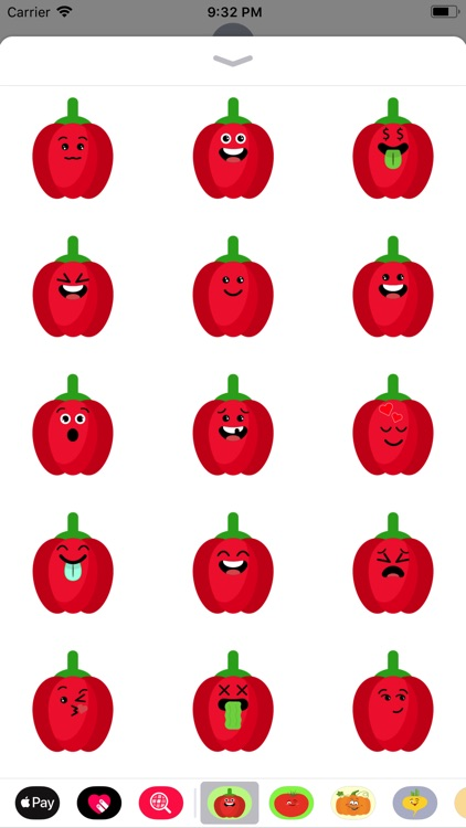 red fruits emoji sticker app