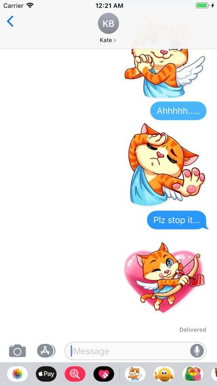 Cupid Cat Love Stickers screenshot-6