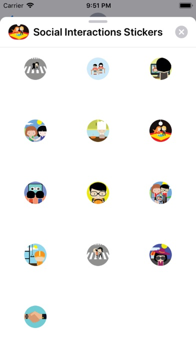 Screenshot for Social Interactions Stickers in Germany App Store