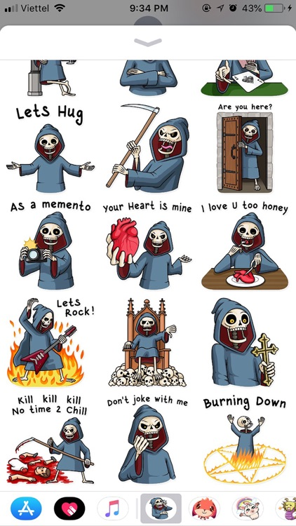 Death Pun Funny Stickers