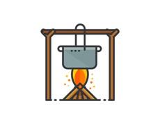 Activities of Outdoors Essentials Stickers