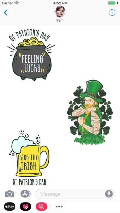St. Patrick Irish Day Stickers