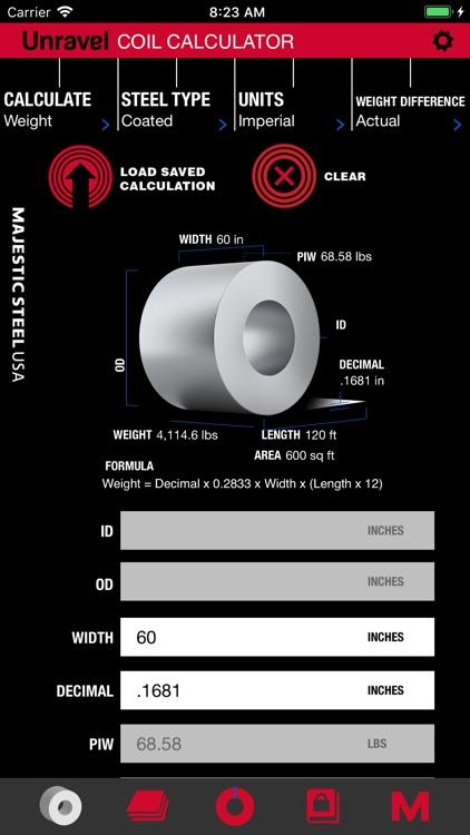 Unravel: Steel Calculator