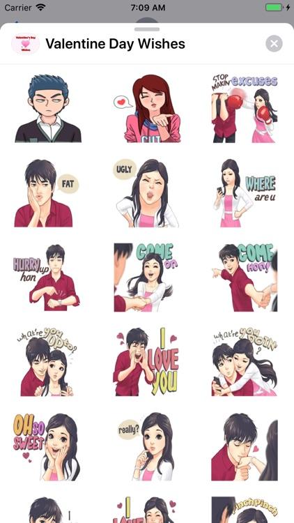 Valentine Day Wishes Stickers
