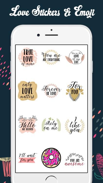 Love Stickers & Emojis