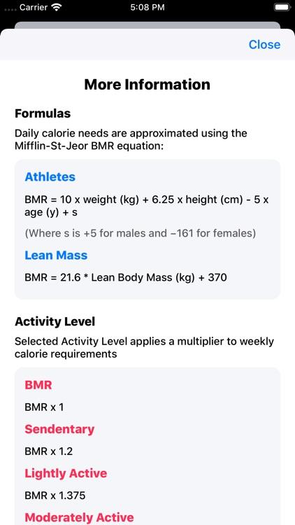 IIFYM Macro/Calorie Calculator screenshot-5