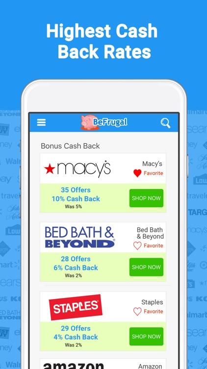 BeFrugal Cash Back & Coupons screenshot-3