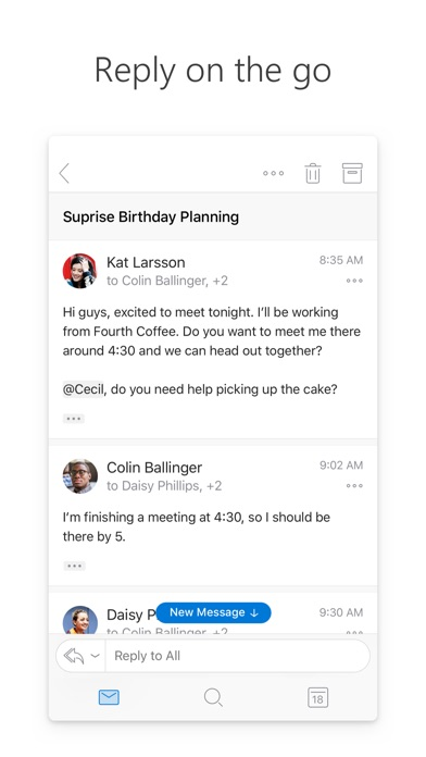 Screenshot for Microsoft Outlook in United States App Store