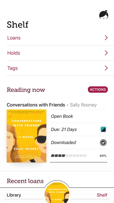 Screenshot for Libby, by OverDrive in United States App Store