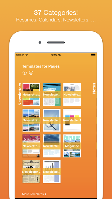 Templates For Pages (nobody) review screenshots