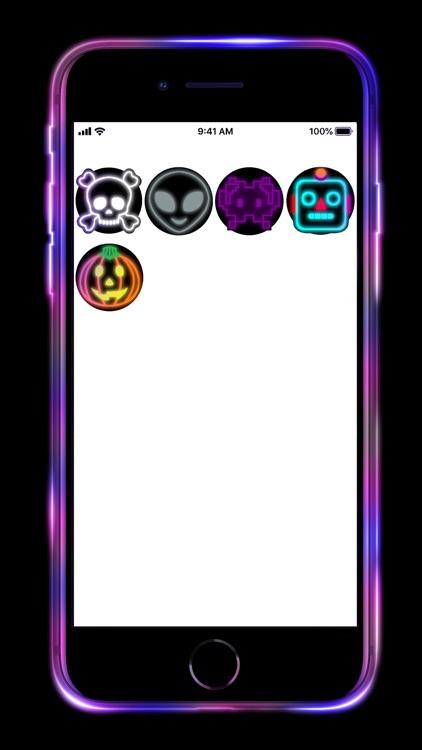 Neon Emoji iStickers Animated screenshot-5