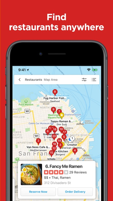 Yelp Food, Delivery & Services Screenshot