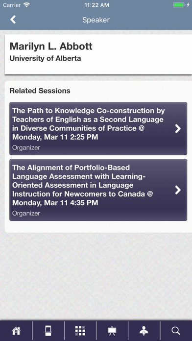 AAAL Conferences screenshot four