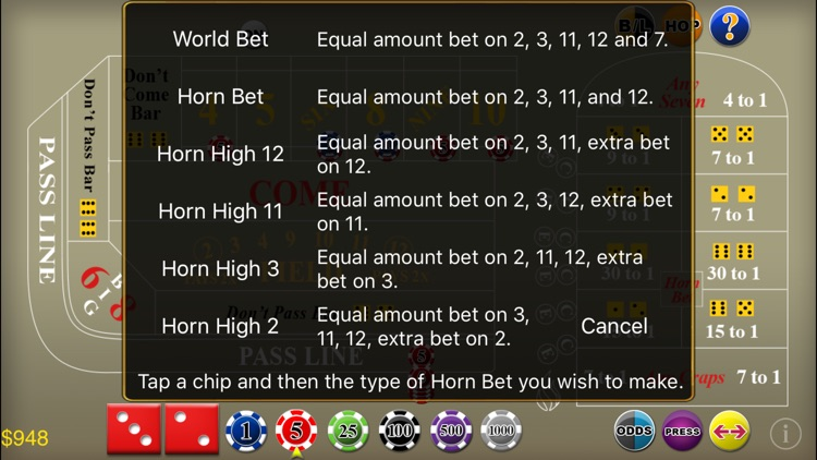 Craps Deluxe screenshot-7