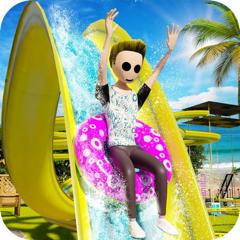 Stickman Uphill Water Slide 3D