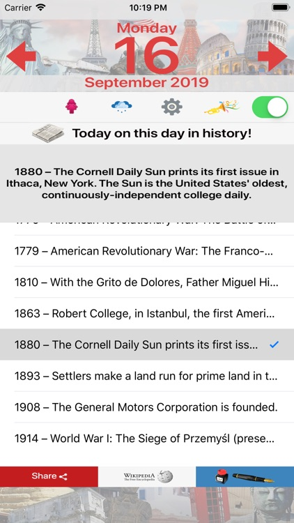 Today - On this day in History