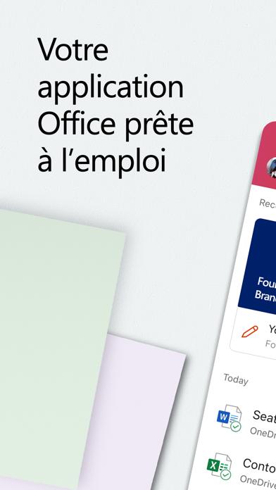 Microsoft Office iphone captures décran