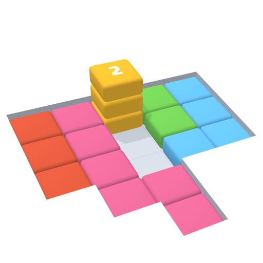 Stack Blocks 3D icon