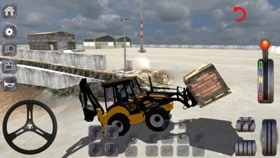 Excavator & Bucket Simulation Screenshot