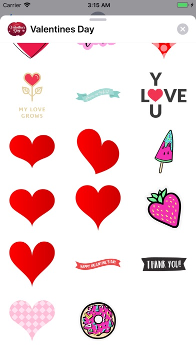 Screenshot for Happy Valentines Day Stickers! in United States App Store