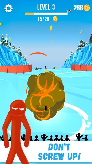 Snowmobile Stickman: Flip Race screenshot four