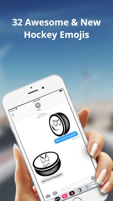 Ice Hockey Puck Emojis app image