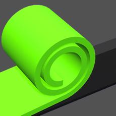 ハイパーカジュアルゲーム「Color Roll 3D」