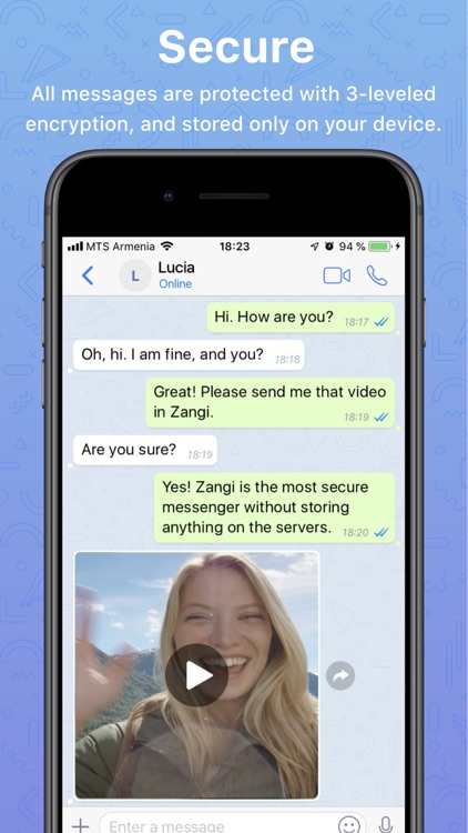 Zangi Messenger screenshot-0