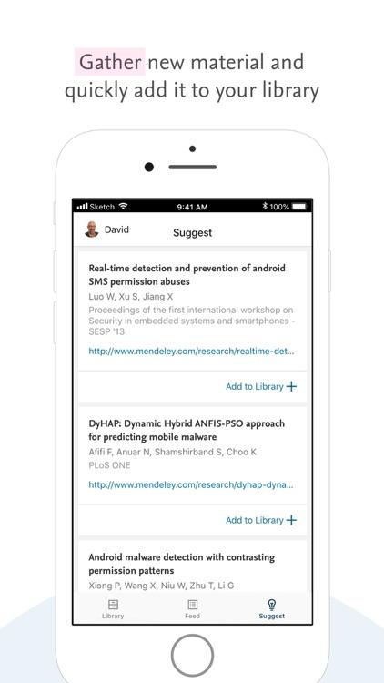Mendeley (PDF Reader) screenshot-0