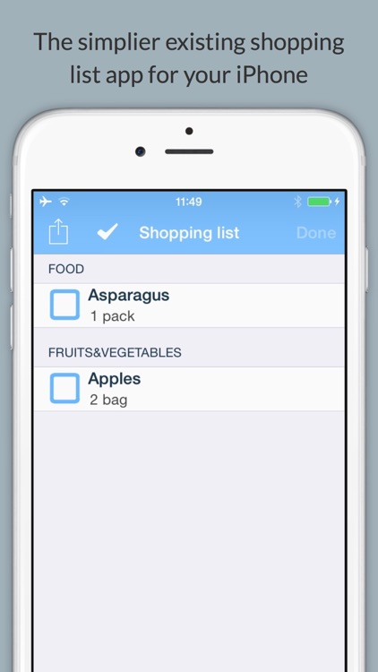 LiShop your shopping list