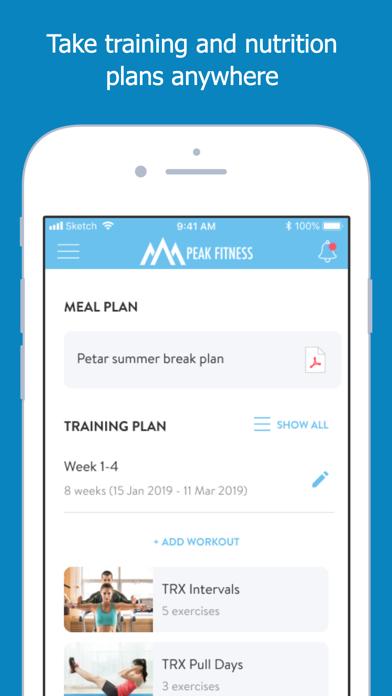 Screen Shot Peak Fitness App 7