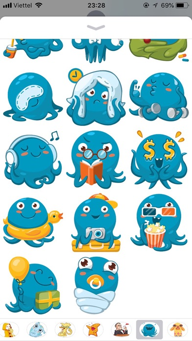 Octopus Cute Funny Stickers screenshot 3